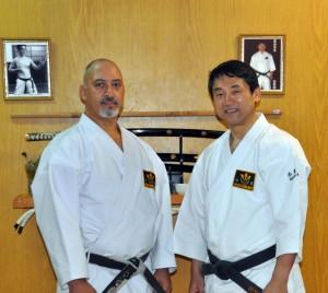 Abril de 2011. Junto a Tashi Tomiyama durante un alto en el curso de capacitación que dictó en Ushuaia.