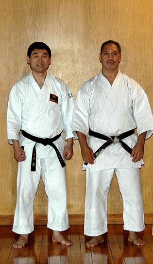 2008. Sensei Spinato con el Presidente de Shito Ryu Kofukan International Organization, Shihan Keiji Tomiyama.